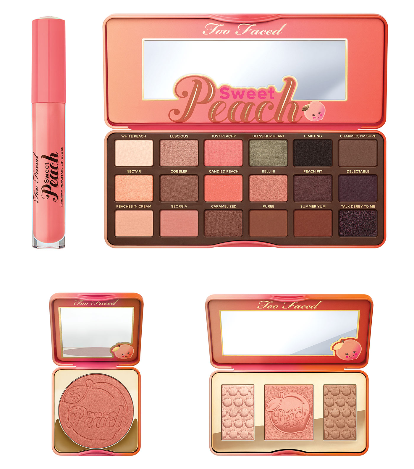 Too Faced Sweet Peach Collection Makeup