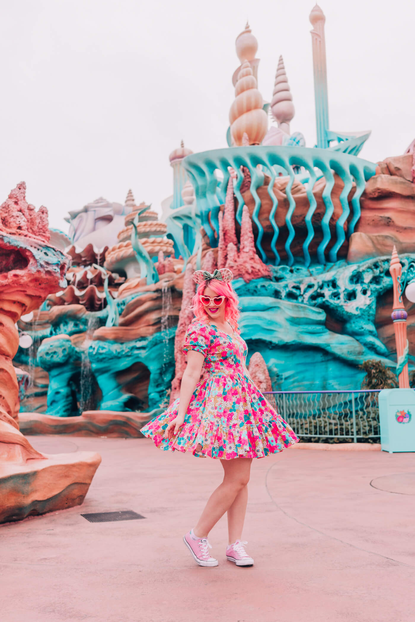 Disneyland Vintage Map A-Line Skirt