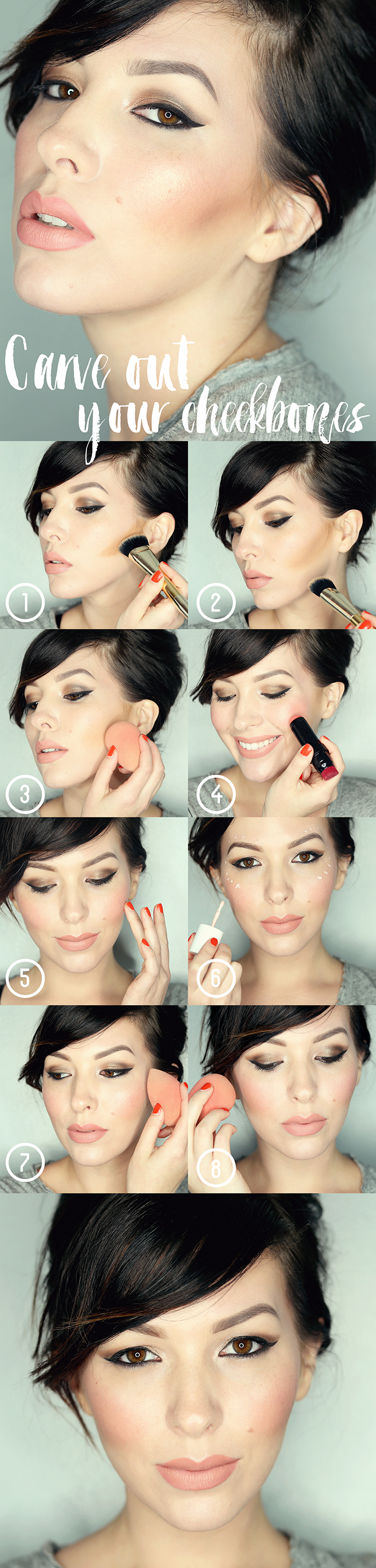 How To Carve Out Your Cheekbones contour tutorial resize