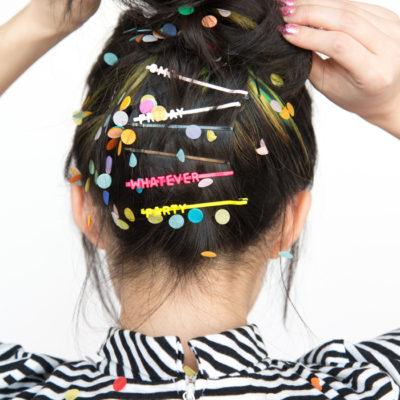 DIY Word Hair Clips