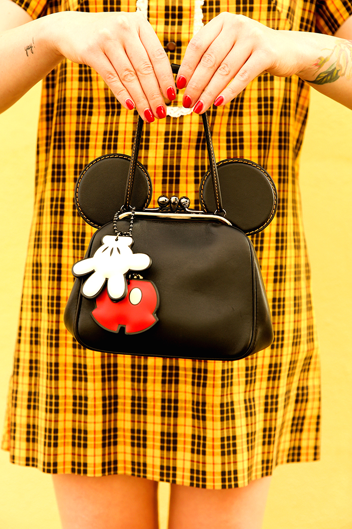 disney x coach collection mickey mouse kisslock