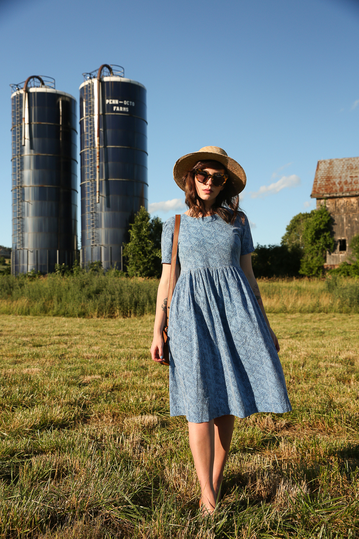vintage feedsack dress