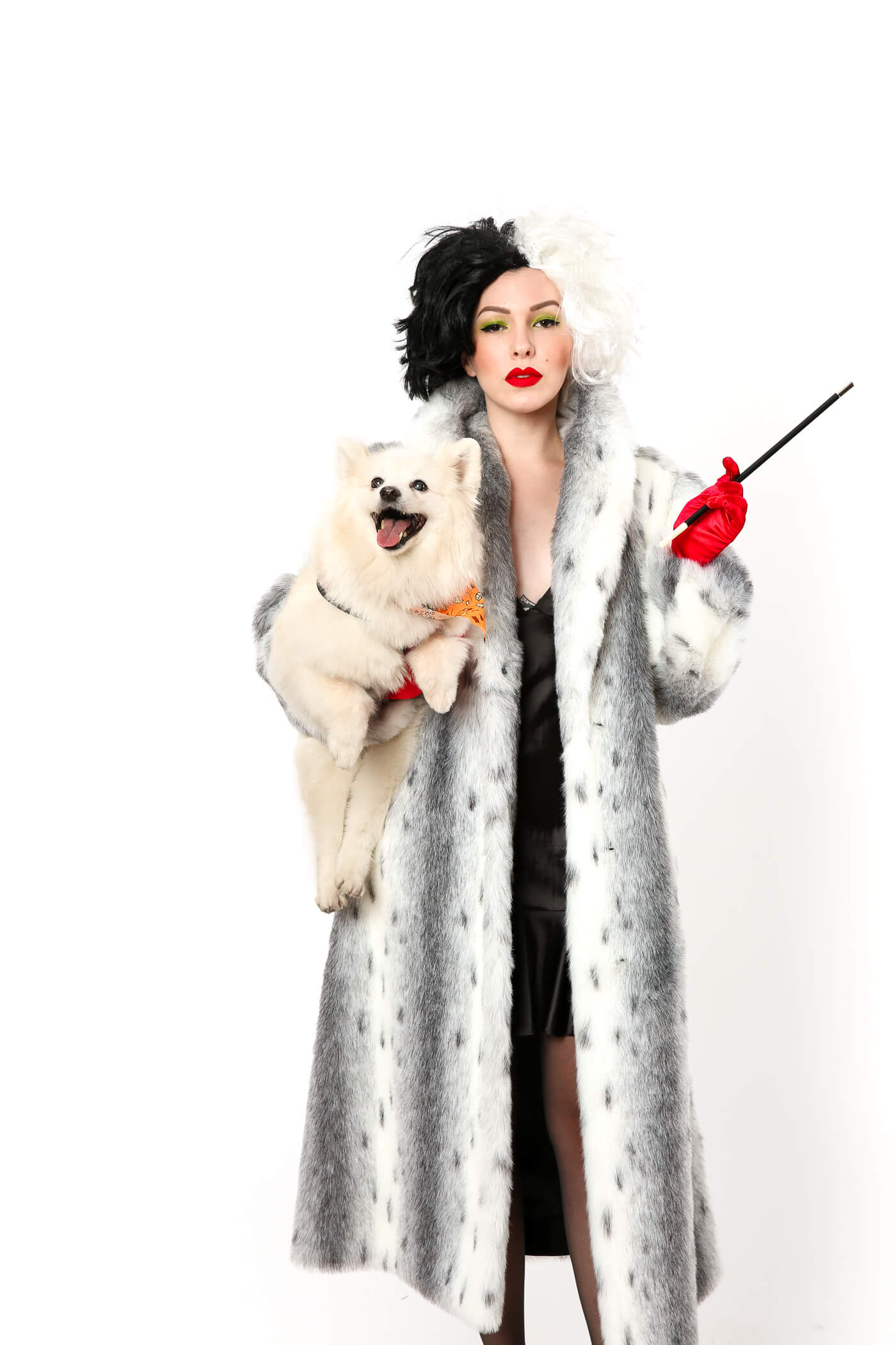 halloween costume idea cruella de vil costume from 101 dalmatians. Black Bedroom Furniture Sets. Home Design Ideas