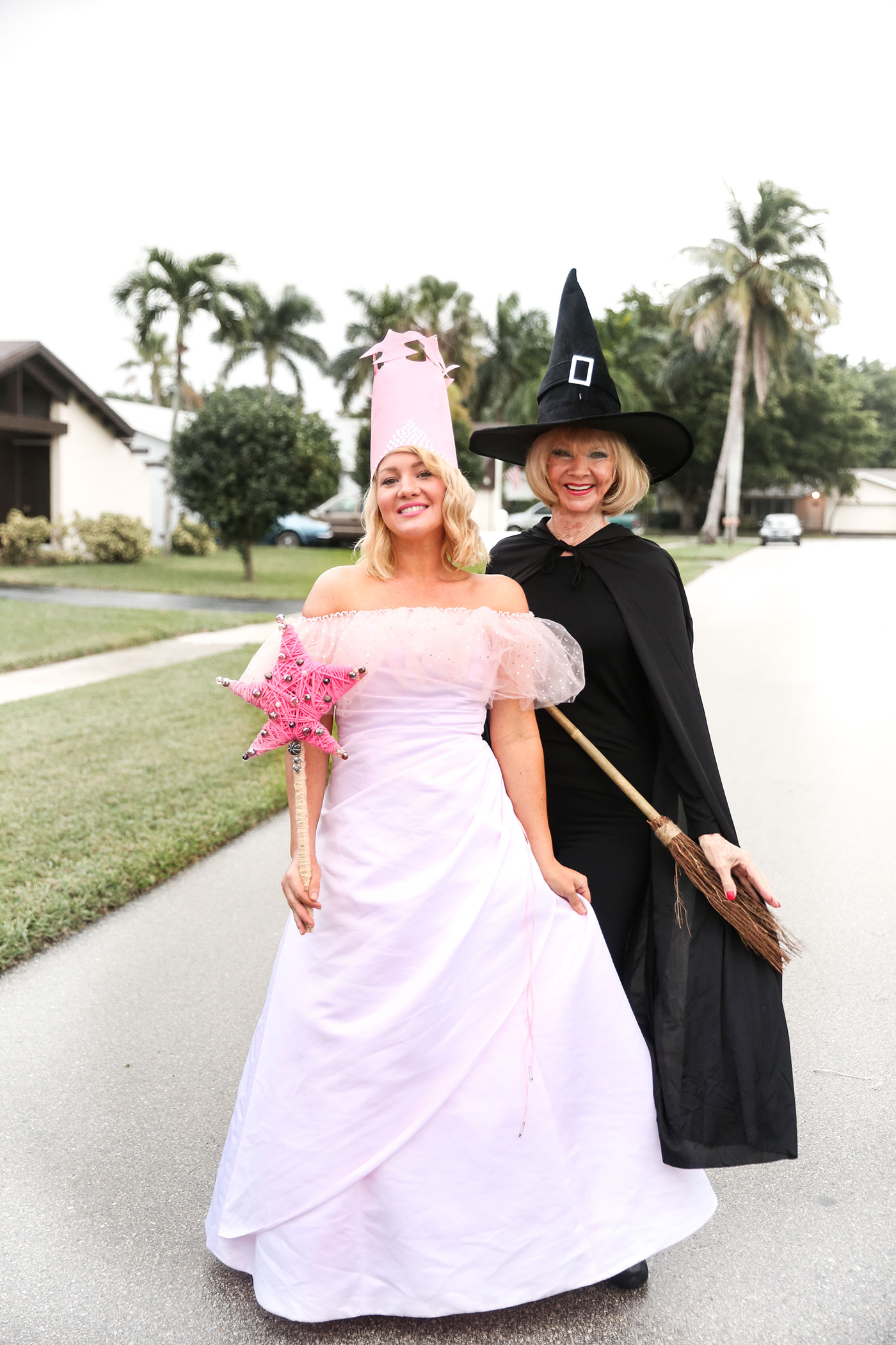 Glinda The Good Witch and The Wicked Witch Of The West costumes