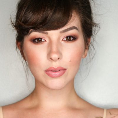too faced sweet peach collection makeup look