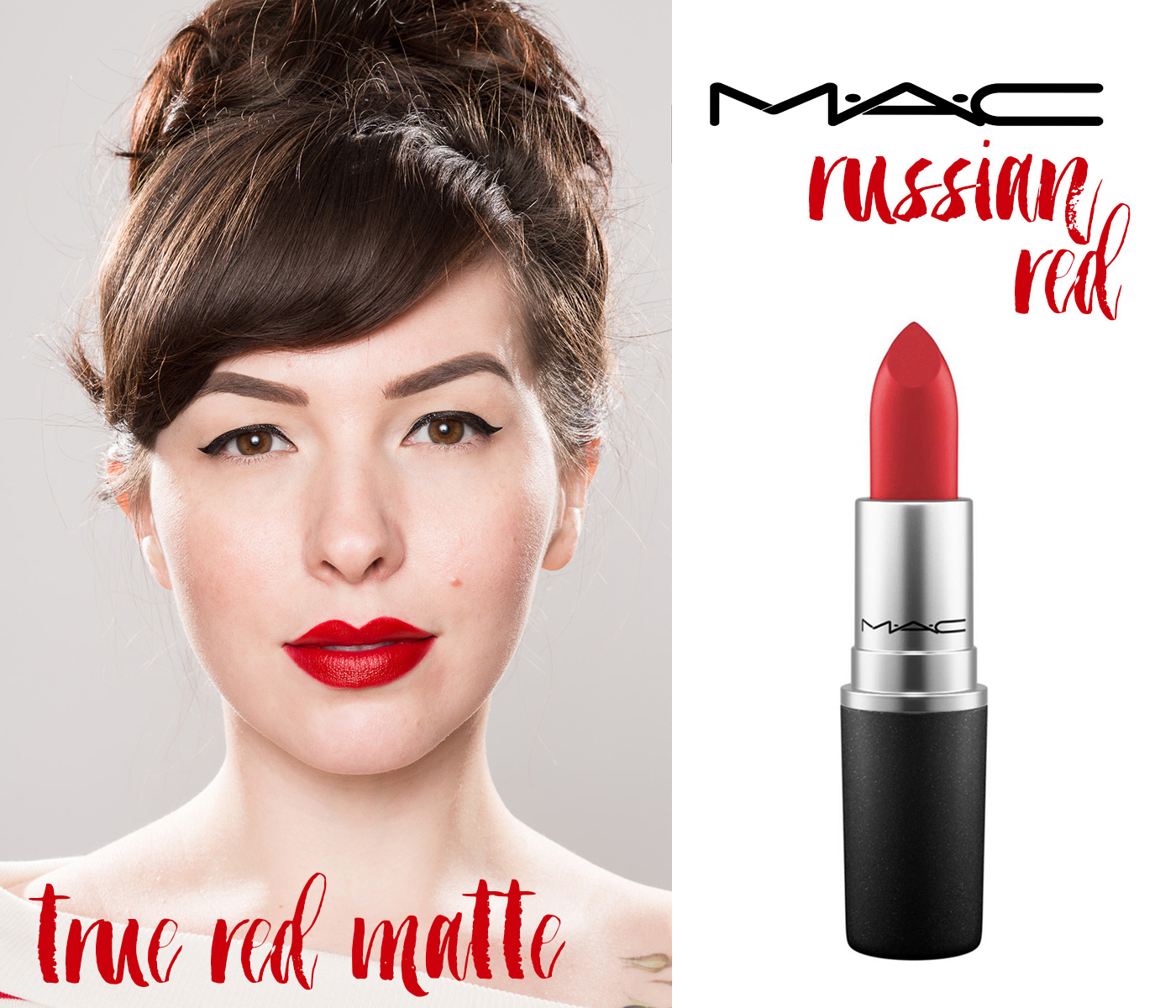 finding the perfect red lipstick: mac russian red lipstick