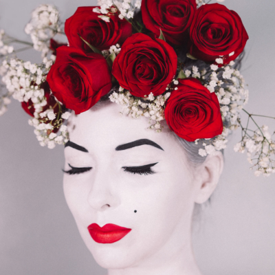 lady head vase makeup tutorial for halloween costume