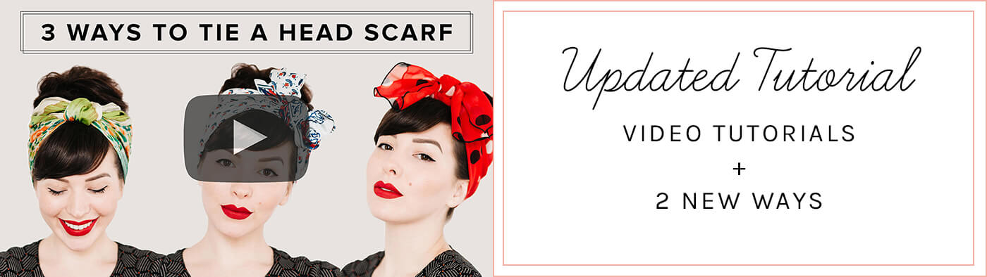 UPDATE: Check out my new video tutorial for 3 different way to tie a head scarf!