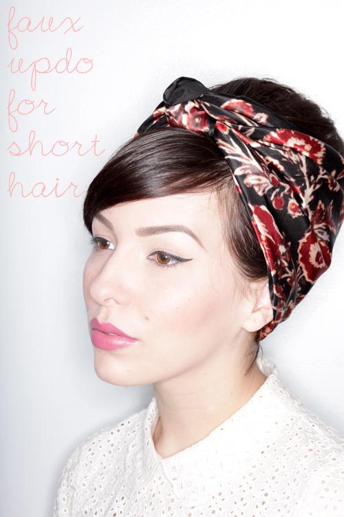 Faux Updo Tutorial For Short Hair - Keiko Lynn