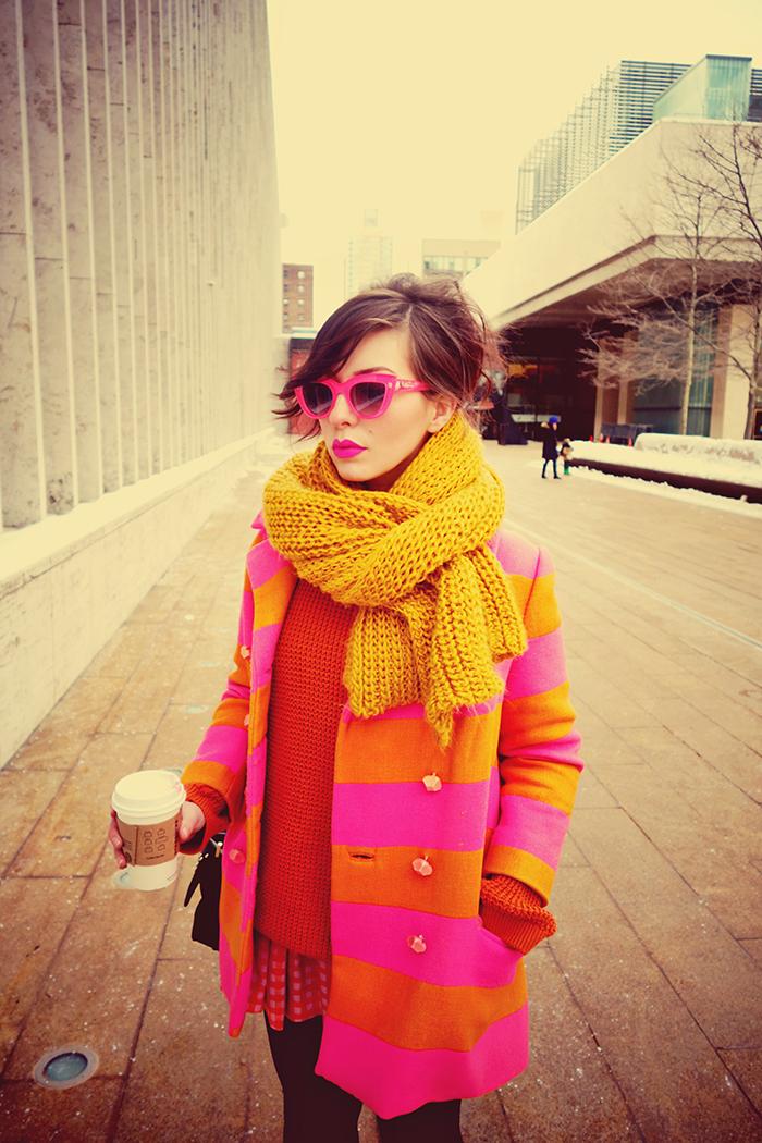 Winter Wear Neon Stripes Keiko Lynn