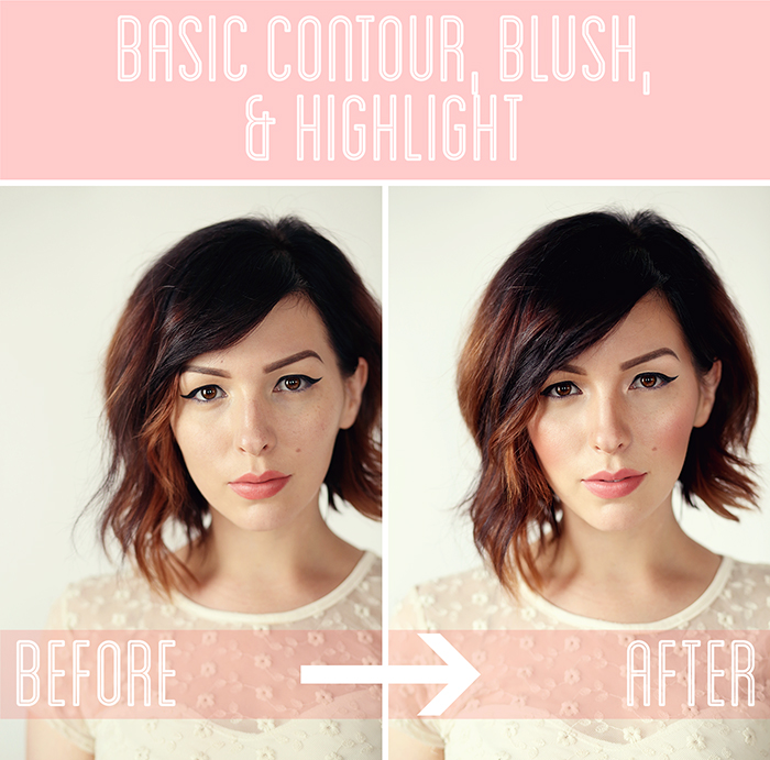 basic contour blush and highlight tutorial keiko lynn