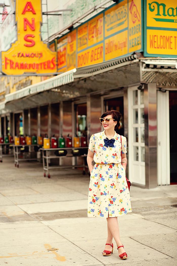 coney island vintage floral dress keiko lynn
