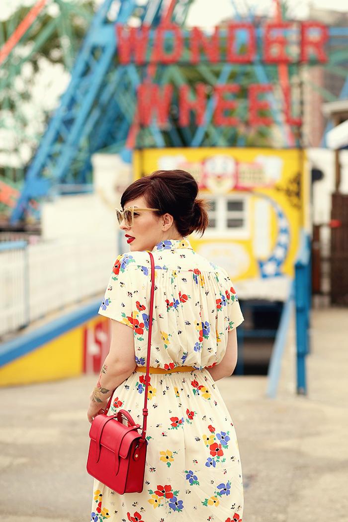 coney island vintage floral dress keiko lynn1