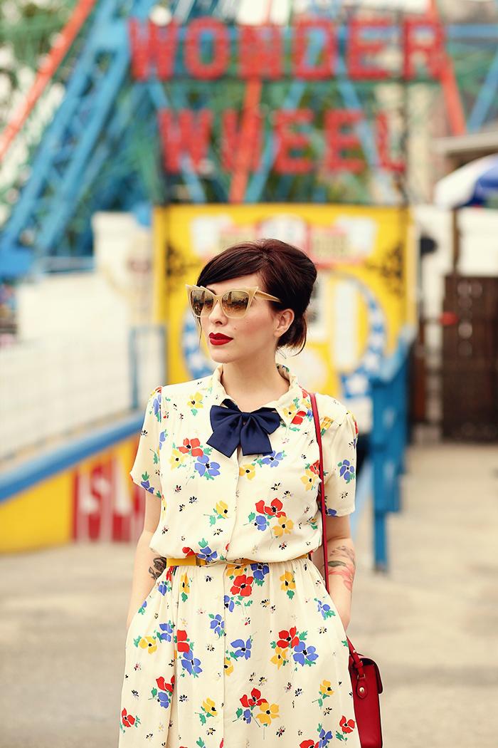 coney island vintage floral dress keiko lynn2