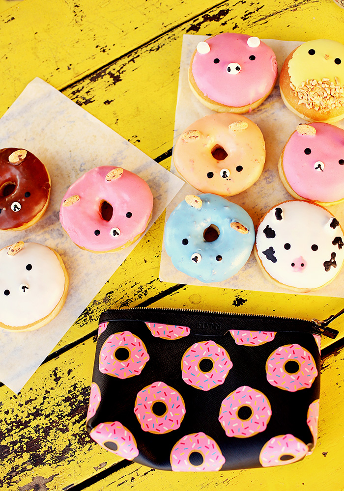 fantastic donuts and flynn donut makeup zip pouch