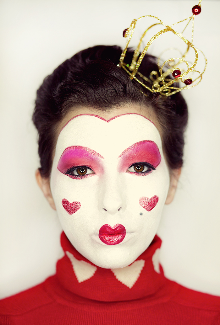 queen of hearts costume makeup keiko lynn