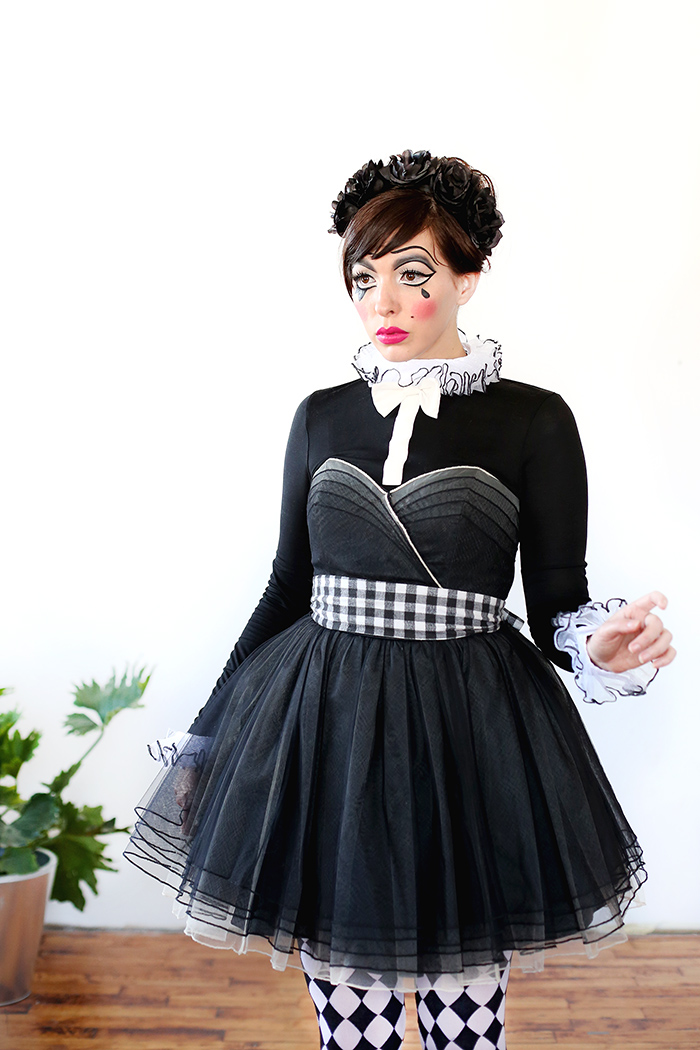 spirit halloween harlequin doll costume keiko lynn