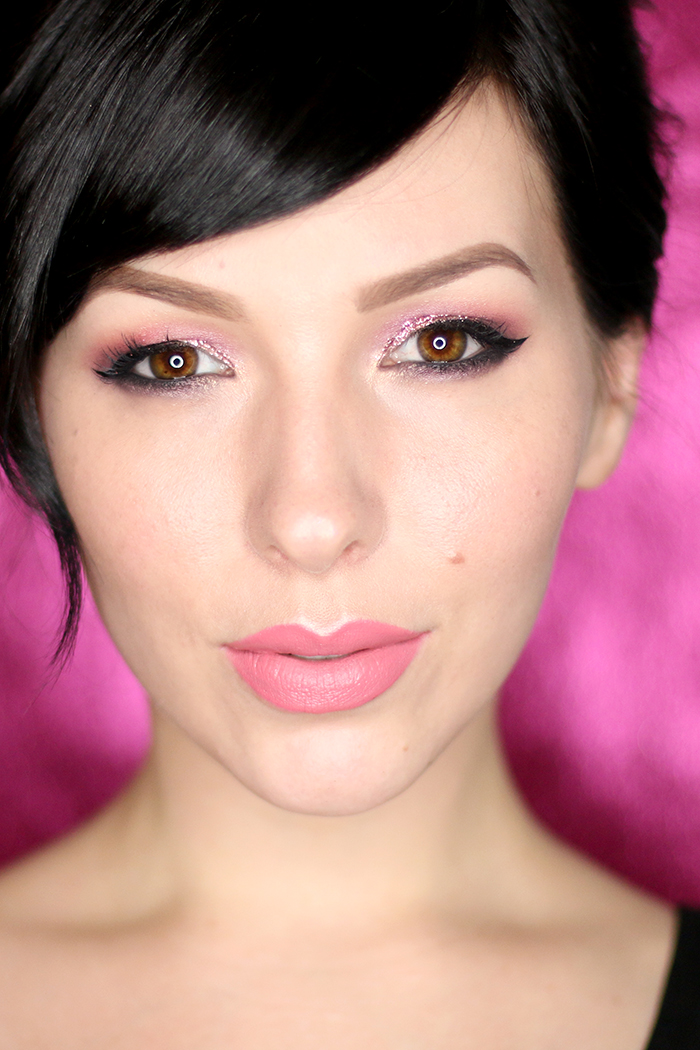 too faced chocolate bon bons and pink glitter eyes makeup tutorial by keiko lynn 1