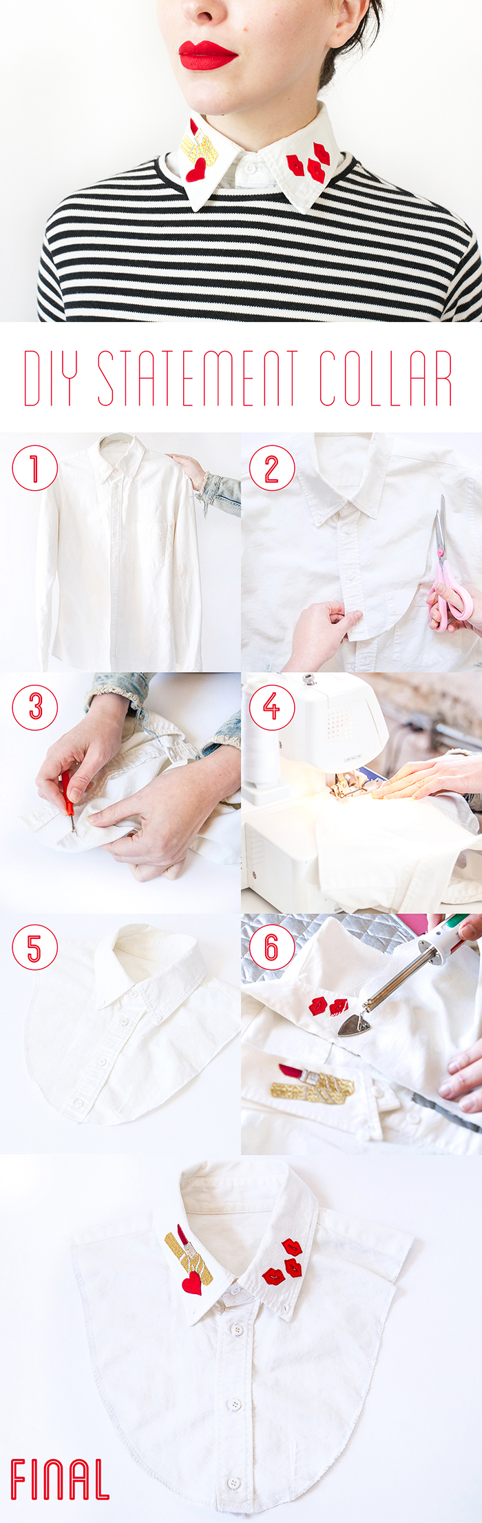 diy statement collar tutorial