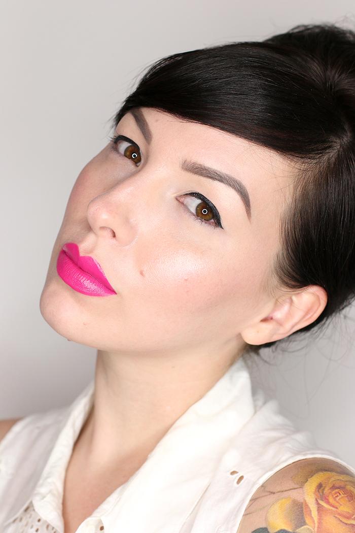 nars audacious lipstick michiyo swatch pink lipstick