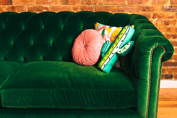 pink and green sofa trendy color bo hot pink lime green