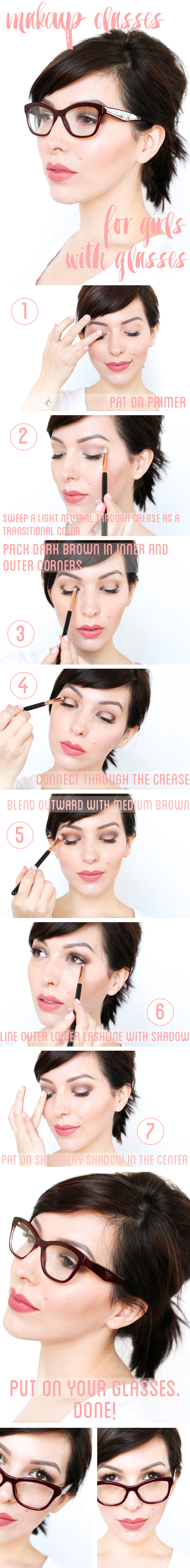 makeup tutorial for girls with glasses