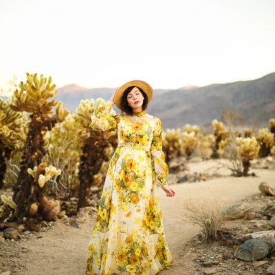 Keiko Lynn at Joshua Tree Cholla Cactus Garden