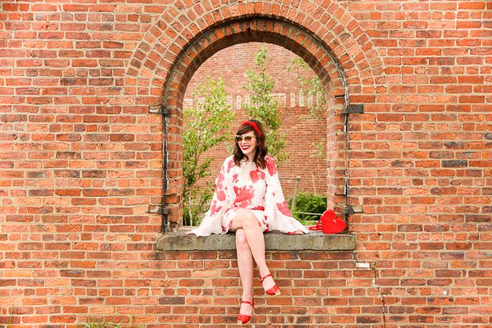 Keiko Lynn in an Alice Mccall dress