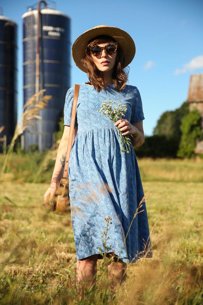 vintage feedsack dress
