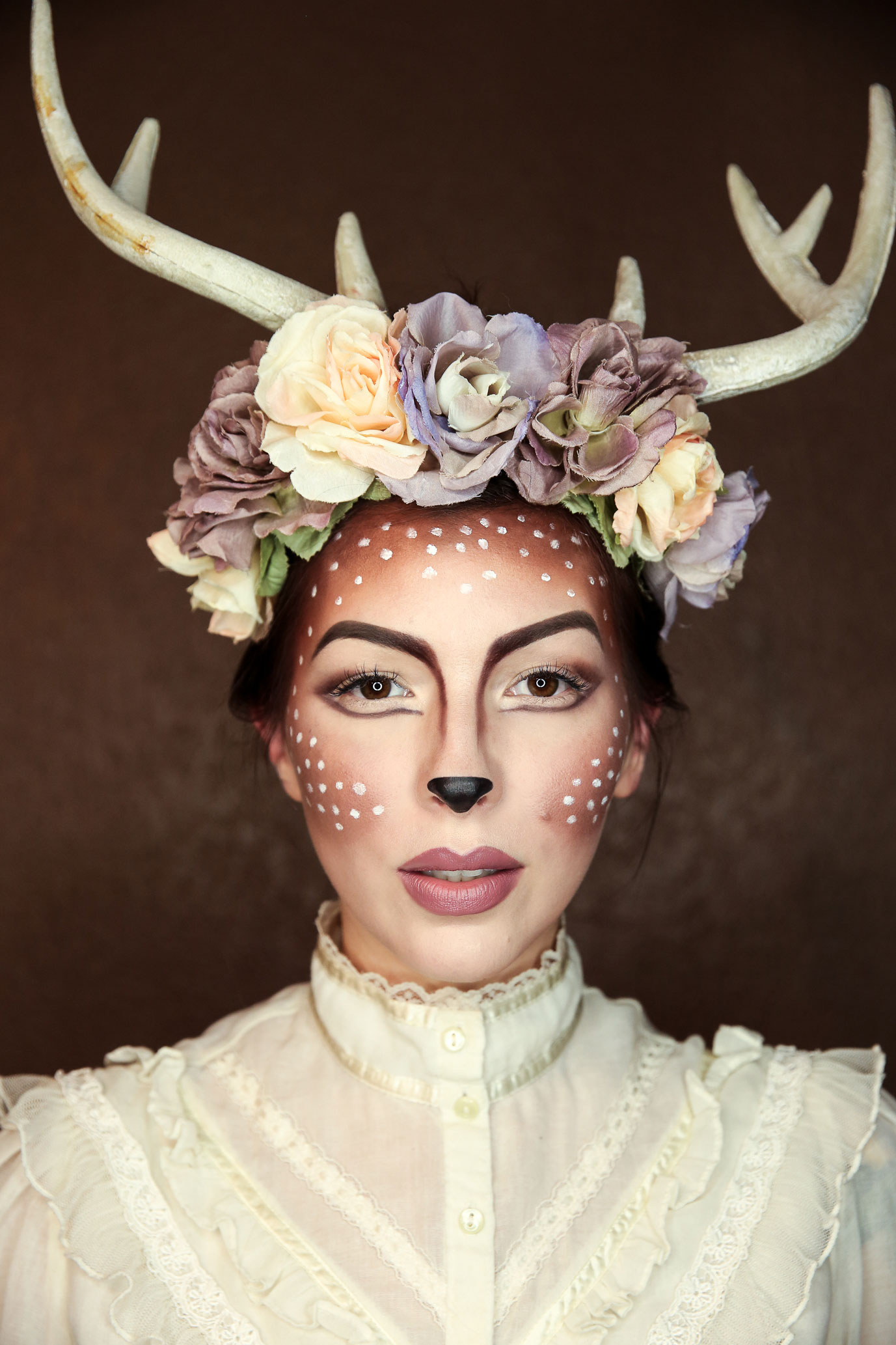 Halloween costume makeup easy deer makeup tutorial easy deer makeup tutorial for halloween fawn makeup baditri Gallery