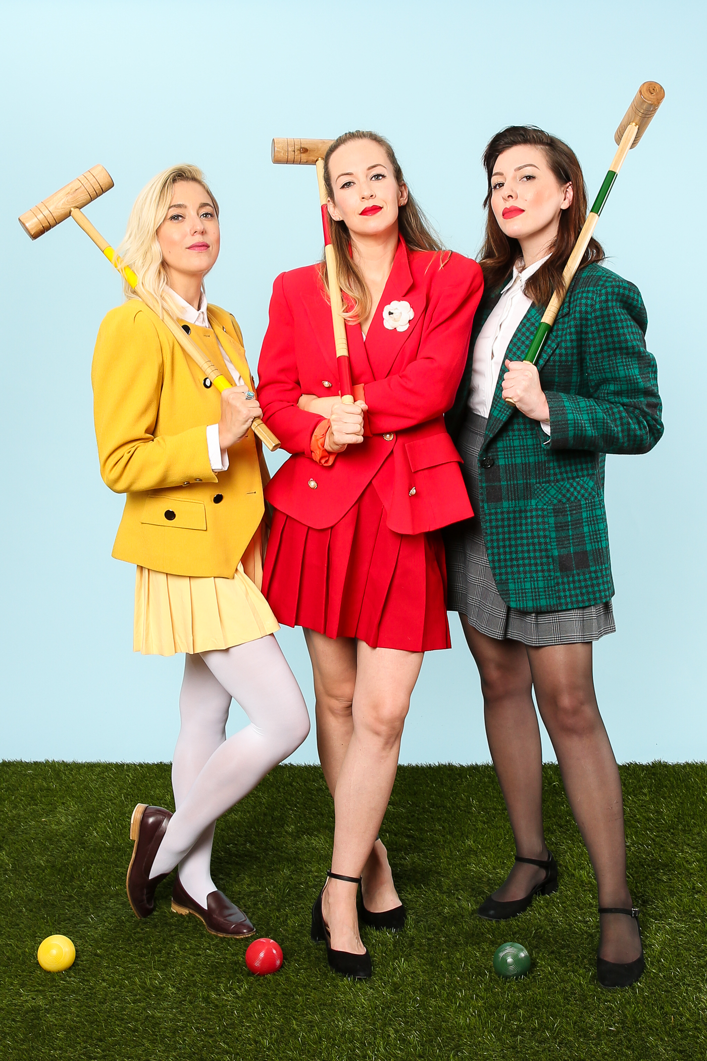 Heathers group costume: My Style Pill, Brooklyn Blonde, and Keiko Lynn