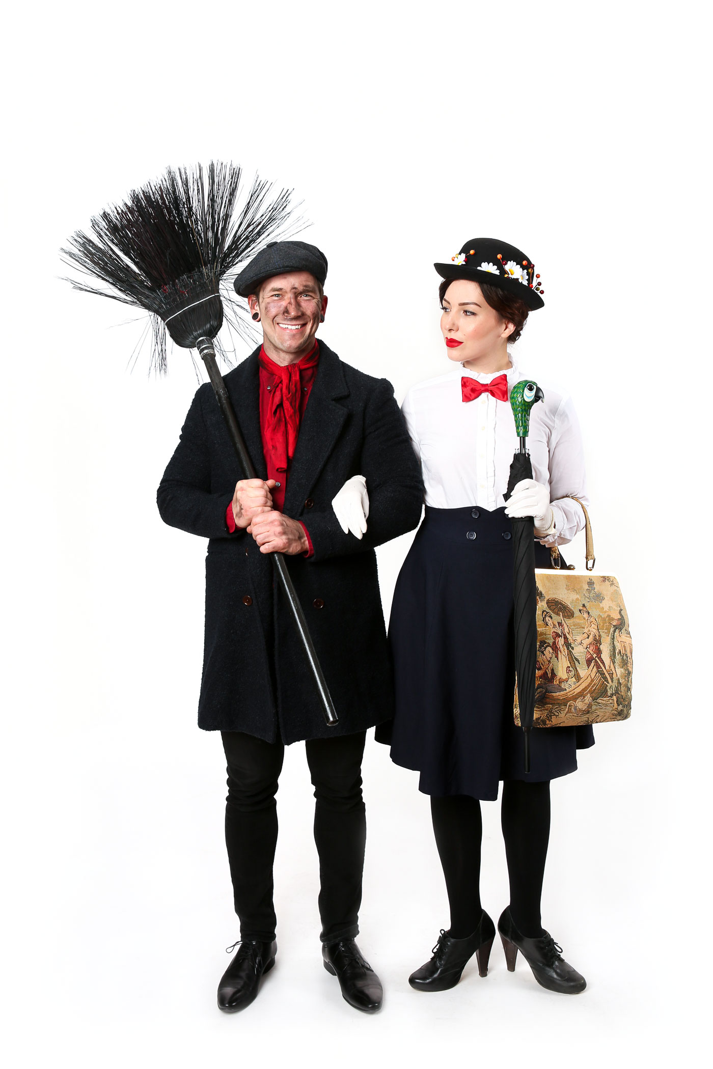 mary poppins and bert costume, keiko lynn and bobby hicks