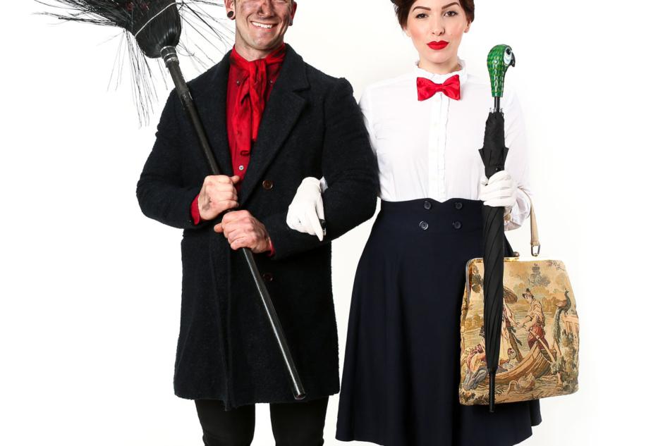 mary poppins and bert costume, keiko lynn and bobby hicks