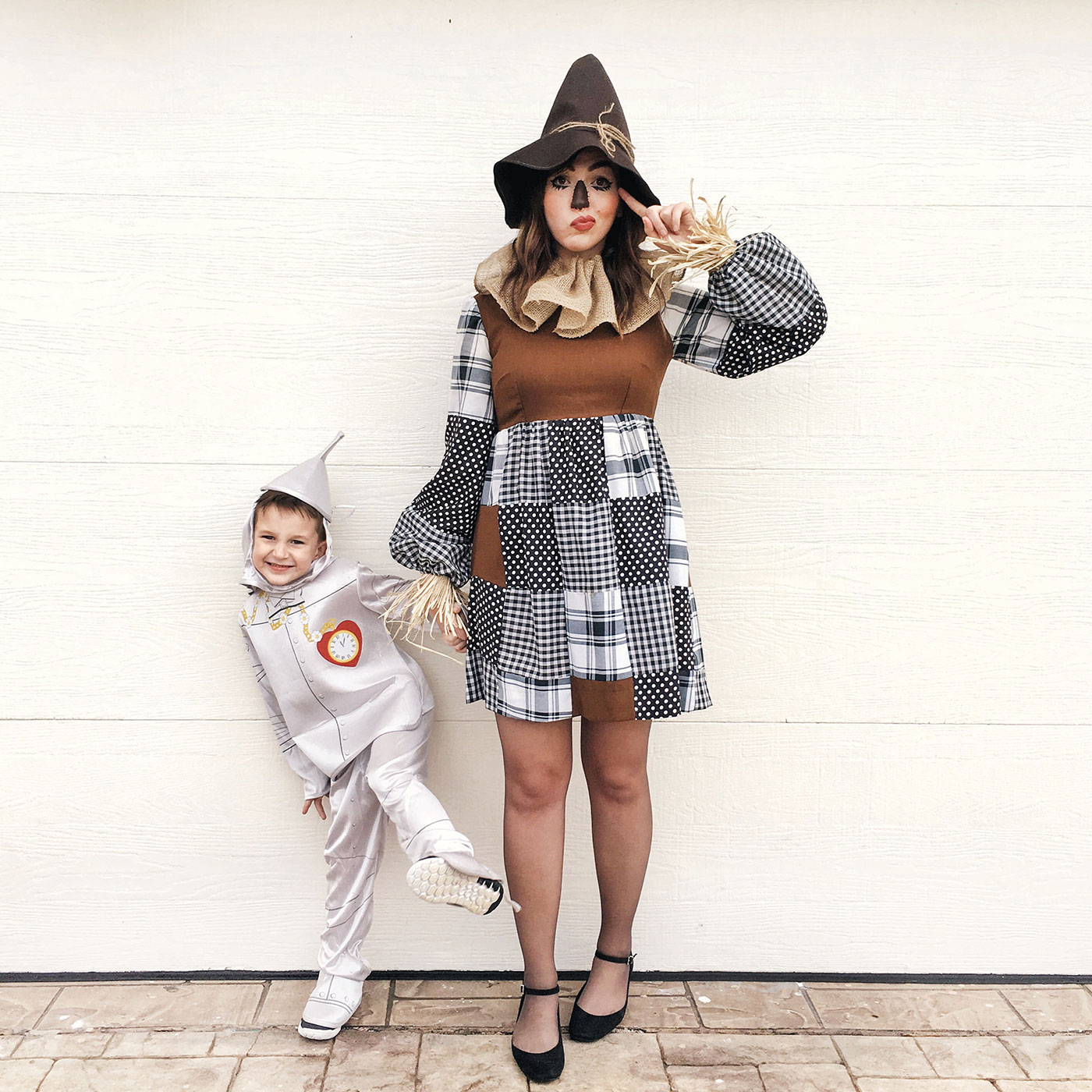 Tinman and Scarecrow costume, wizard of oz