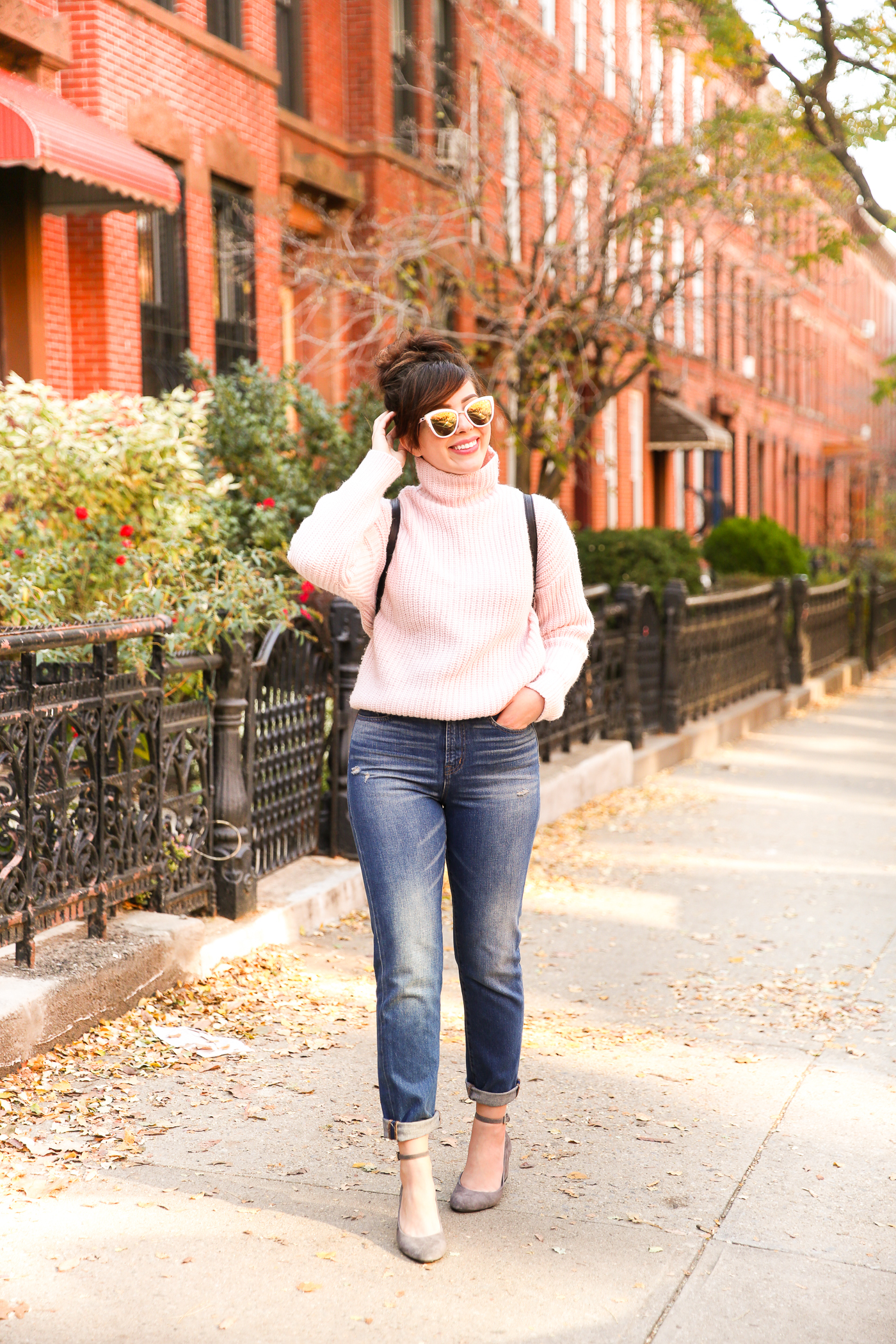 steven mary janes, madewell jeans, gap sweater