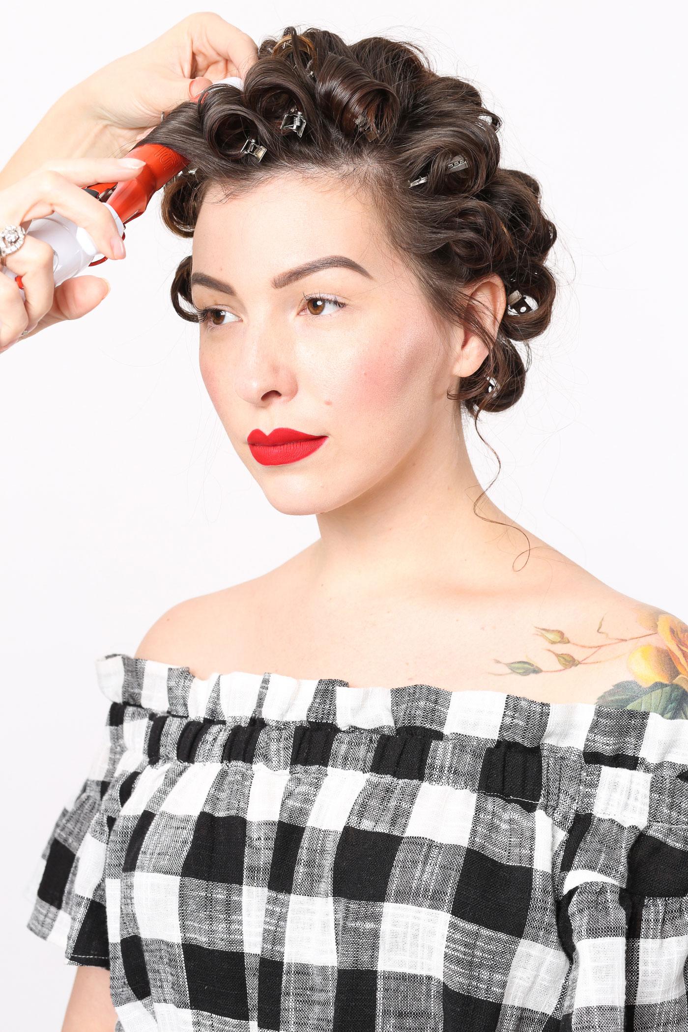 retro waves vintage hairstyle tutorial