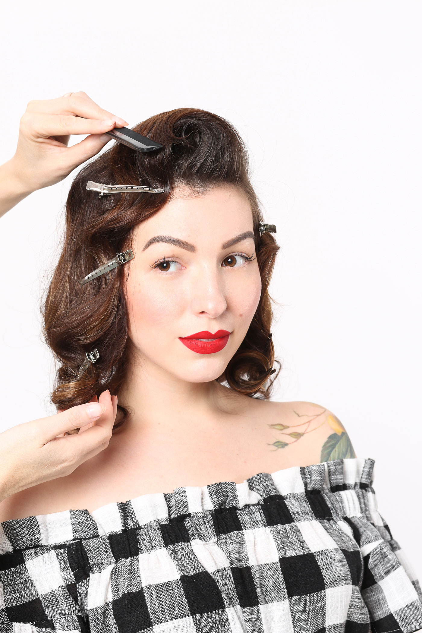 retro waves vintage hairstyle tutorial