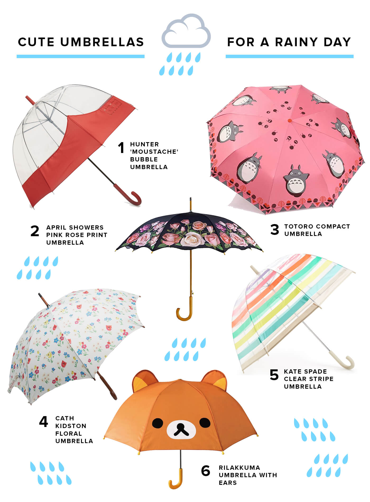 cute rainy day umbrellas and rain boots keiko lynn