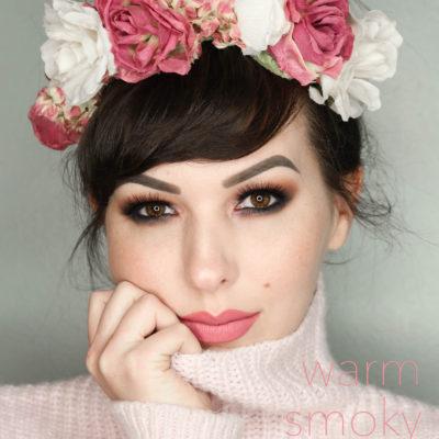 warm smoky eye tutorial / Valentine's Day Makeup Look