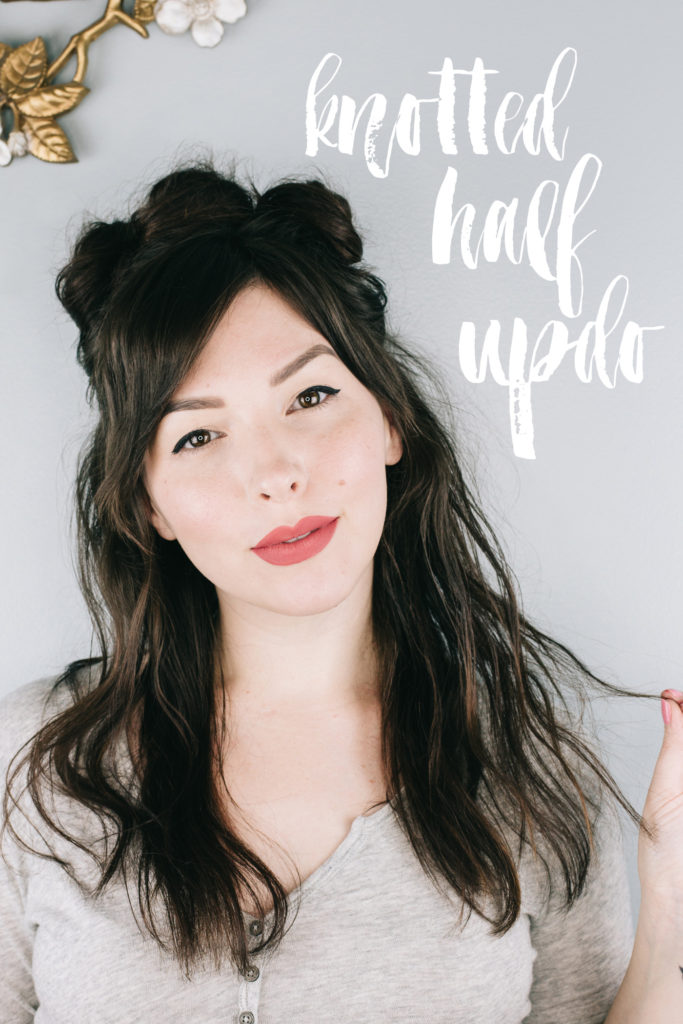 90s Style Knotted Half Updo Hair Tutorial By Keiko Lynn