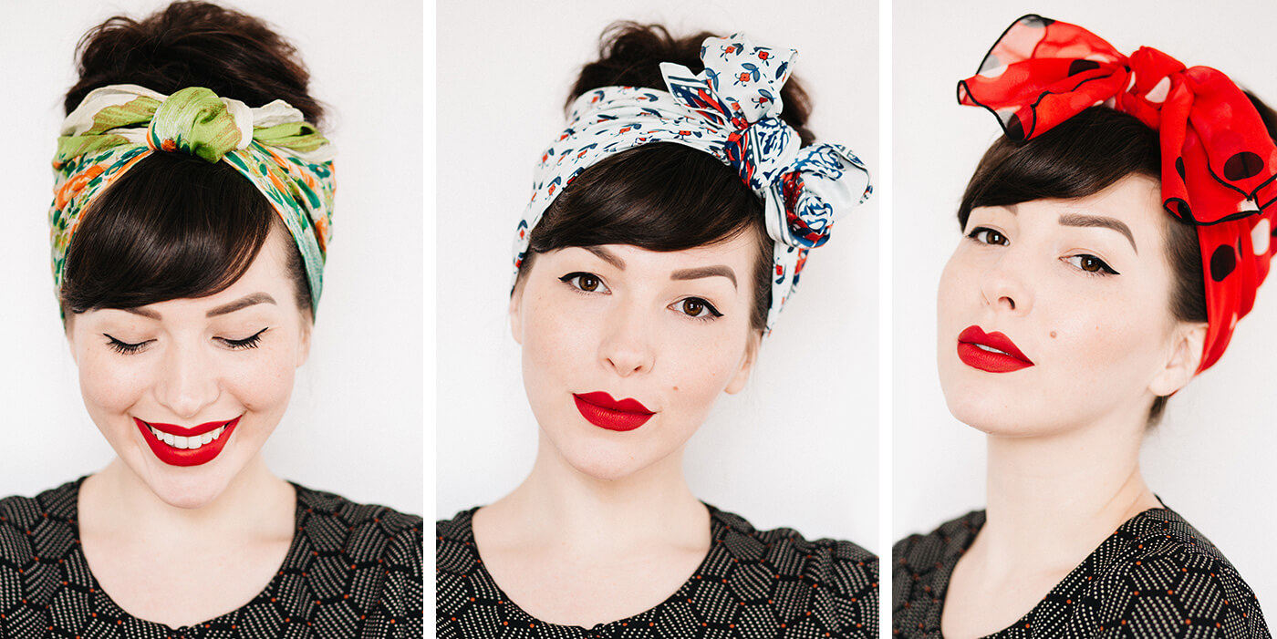 how to tie a head scarf 3 ways video tutorial