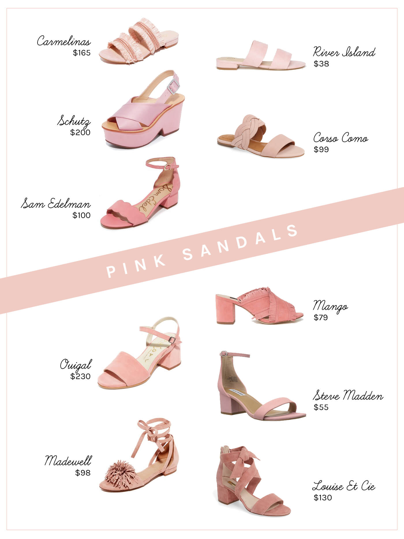 Think Pink: 10 Pink Sandals for Spring and Summer - Keiko Lynn
