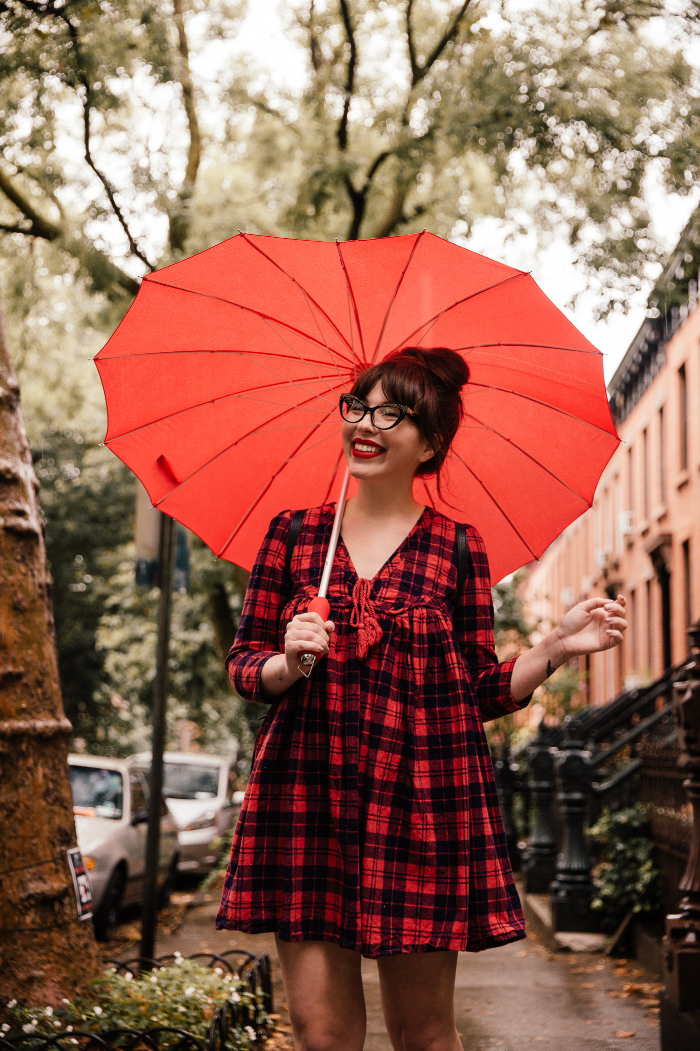 red heart umbrella