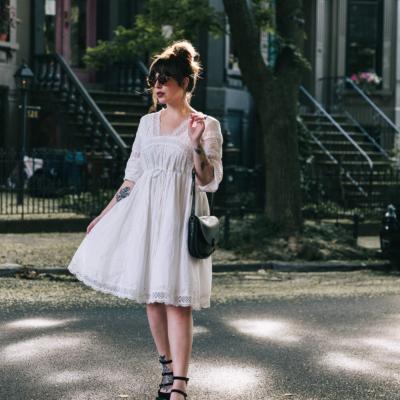 Keiko Lynn white cotton lace dress anthropologie