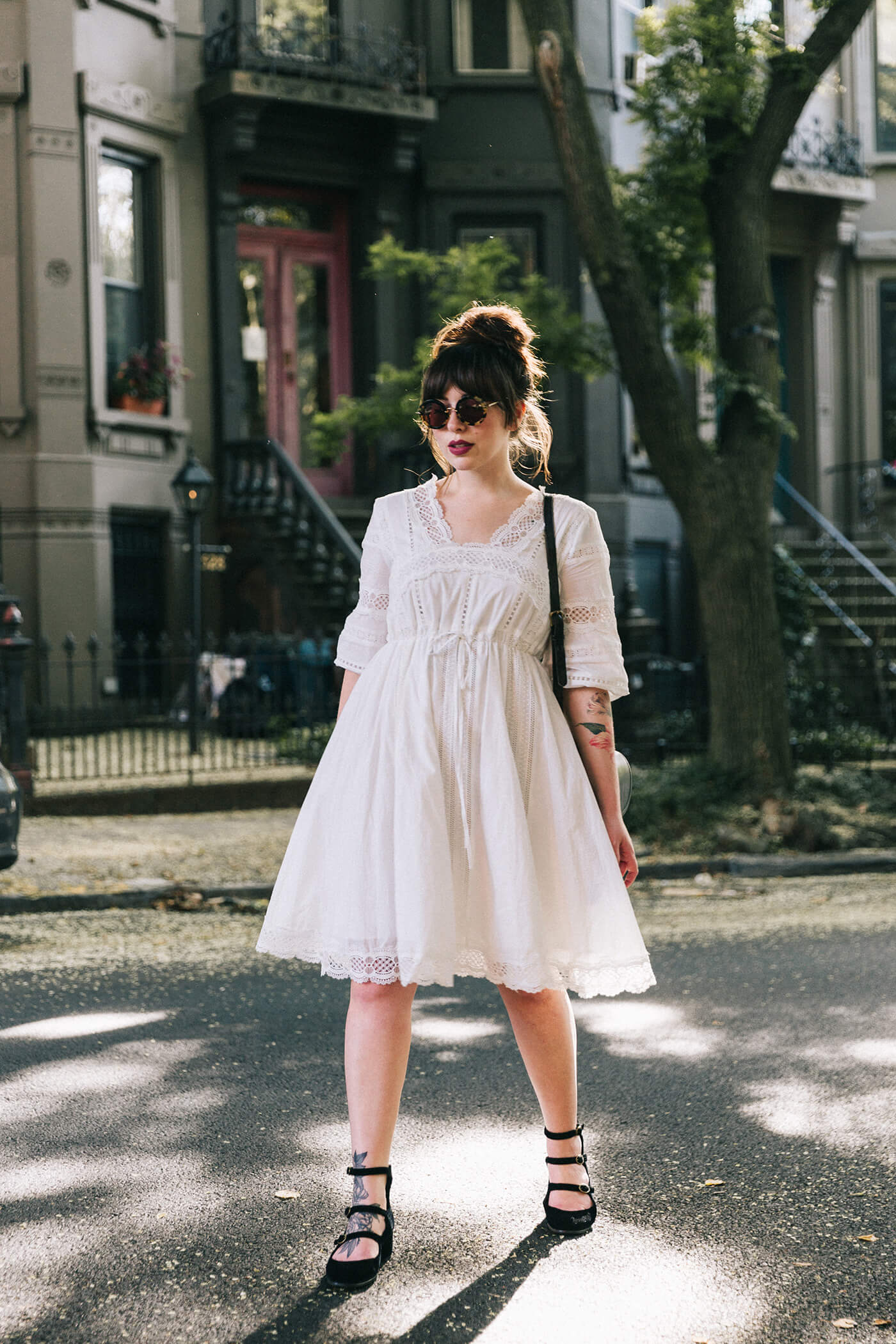 Keiko Lynn white cotton lace dress anthropologie