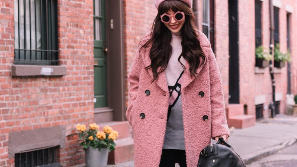31d63565e495 pink topshop coat alicia boucle