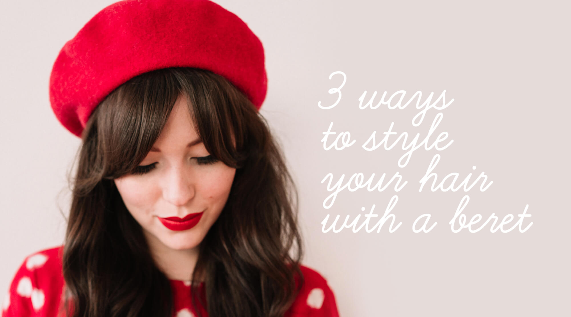 ways to style your hair 3 ways to style your hair with a beret keiko 7579
