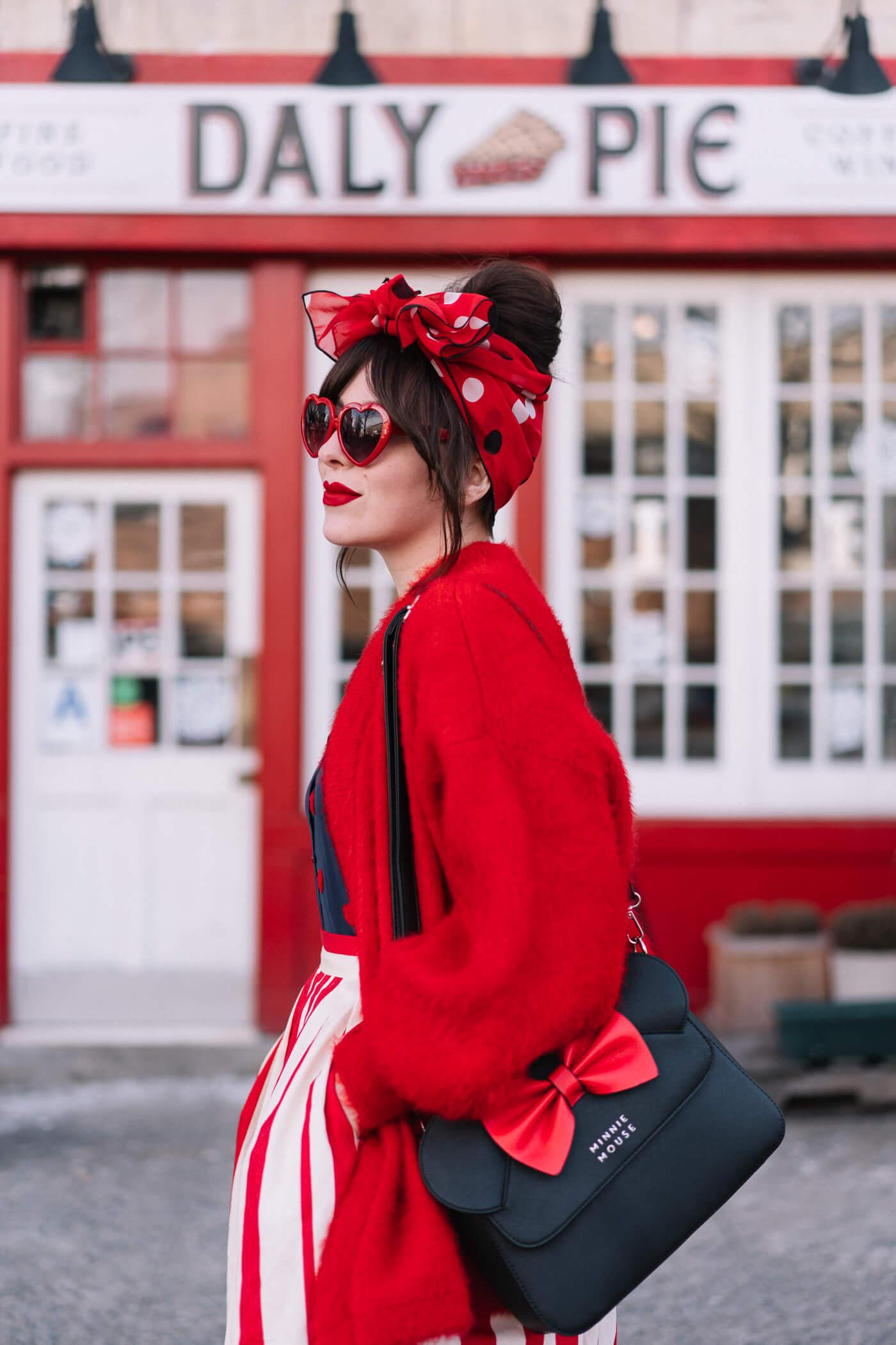 modcloth red white stripe skirt