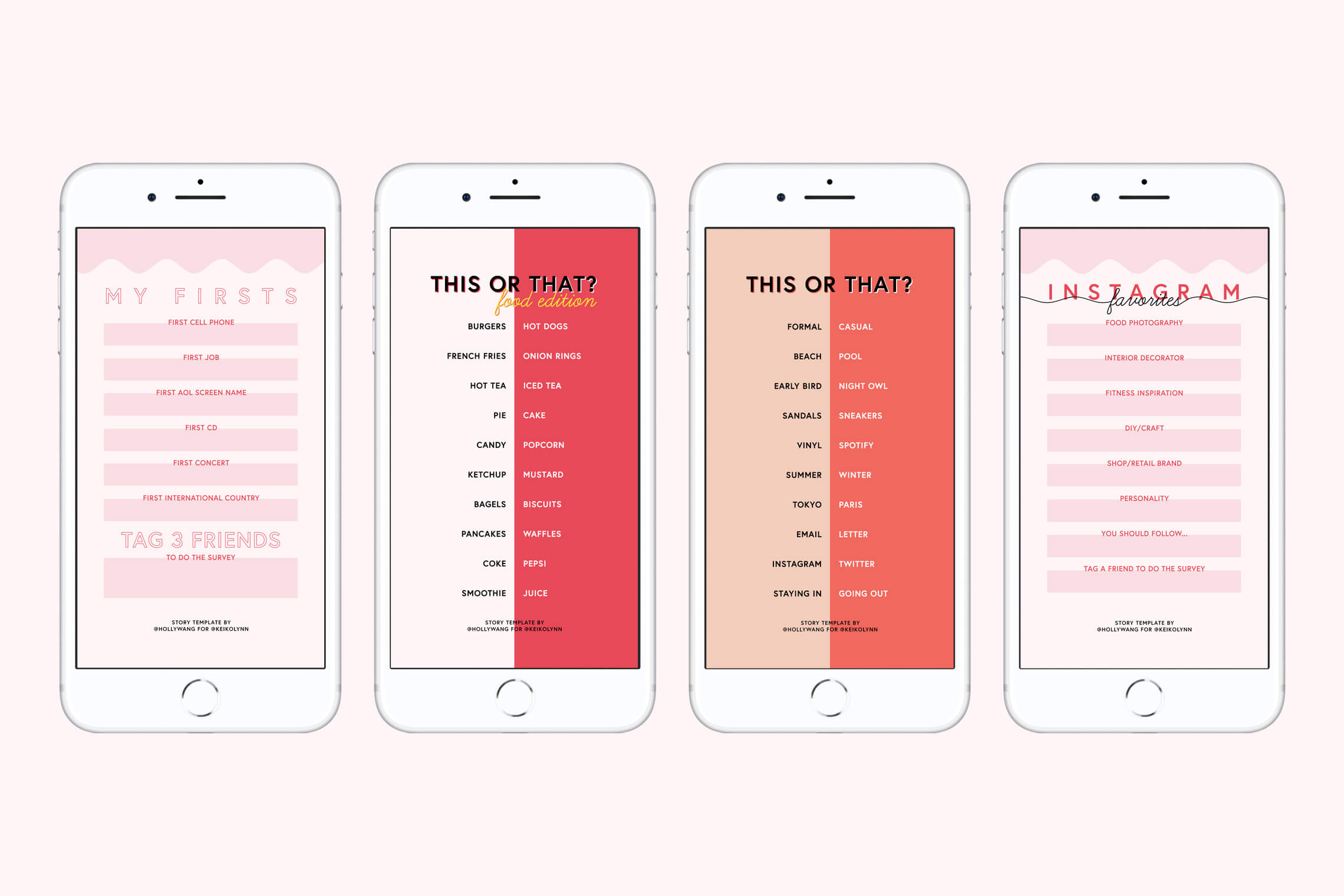 Instagram Story Template, More This or That Surveys - Keiko Lynn