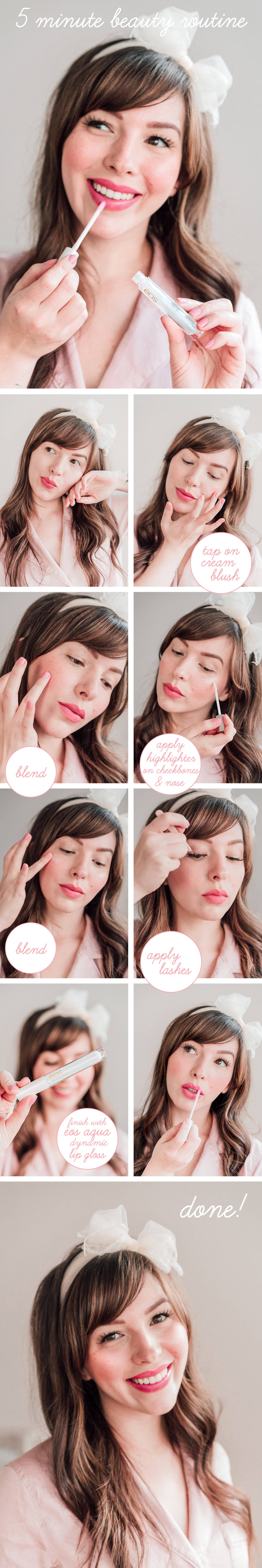 5 minute beauty routine tutorial with eos